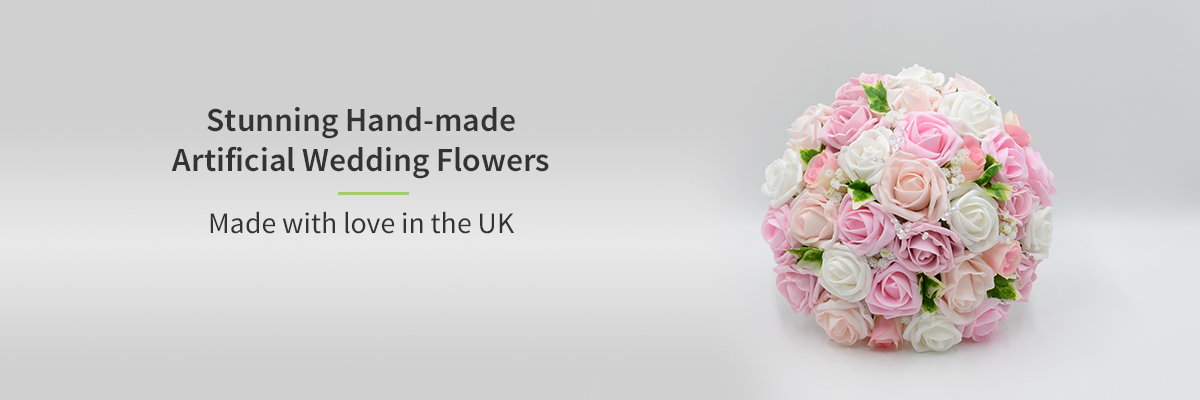 Stunning hand made artificial wedding flowers