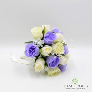 Lilac & Ivory silk Posy