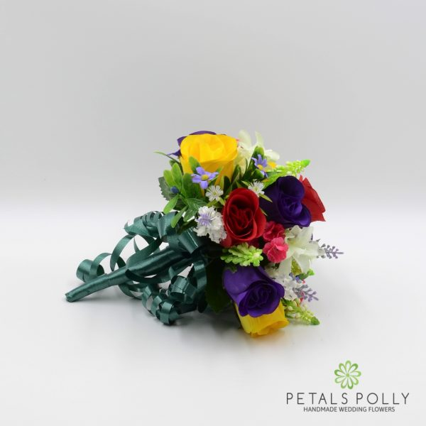 Multi-coloured Rose Bridesmaids Posy with Daisies & Lavender