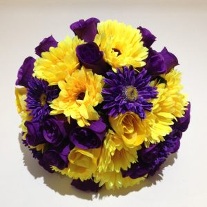 Yellow and Purple Wedding Posy