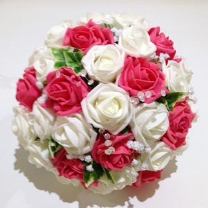 pink and white stunning posy