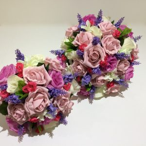 2 wedding posy's
