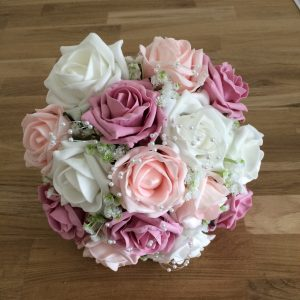 pinks silk wedding flowers