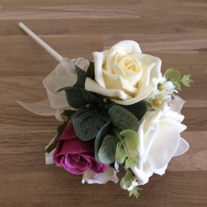 flower girl wand in artificial flowers