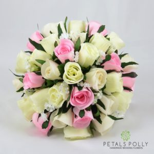 artificial brides bouquet in baby pink and ivory