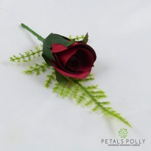 Yellow Single Rose Buttonhole