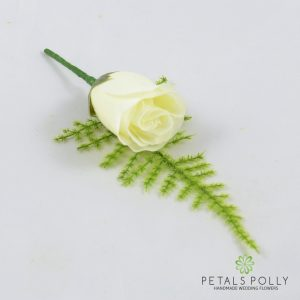 Ivory Single Rose Buttonhole
