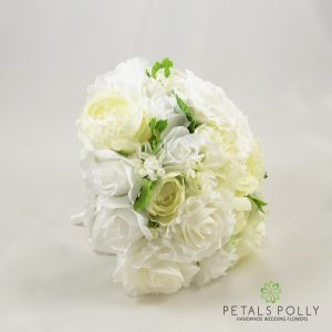 Ivory & White Rose Brides Posy with Ranunculus