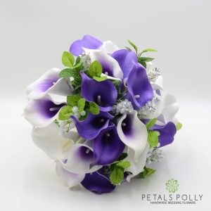 ARTIFICIAL PURPLE & WHITE CALLA LILY