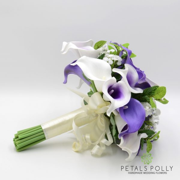 Purple & White Calla Lily Brides Posy