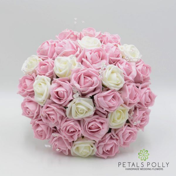 Baby Pink & Ivory Rose Brides Posy