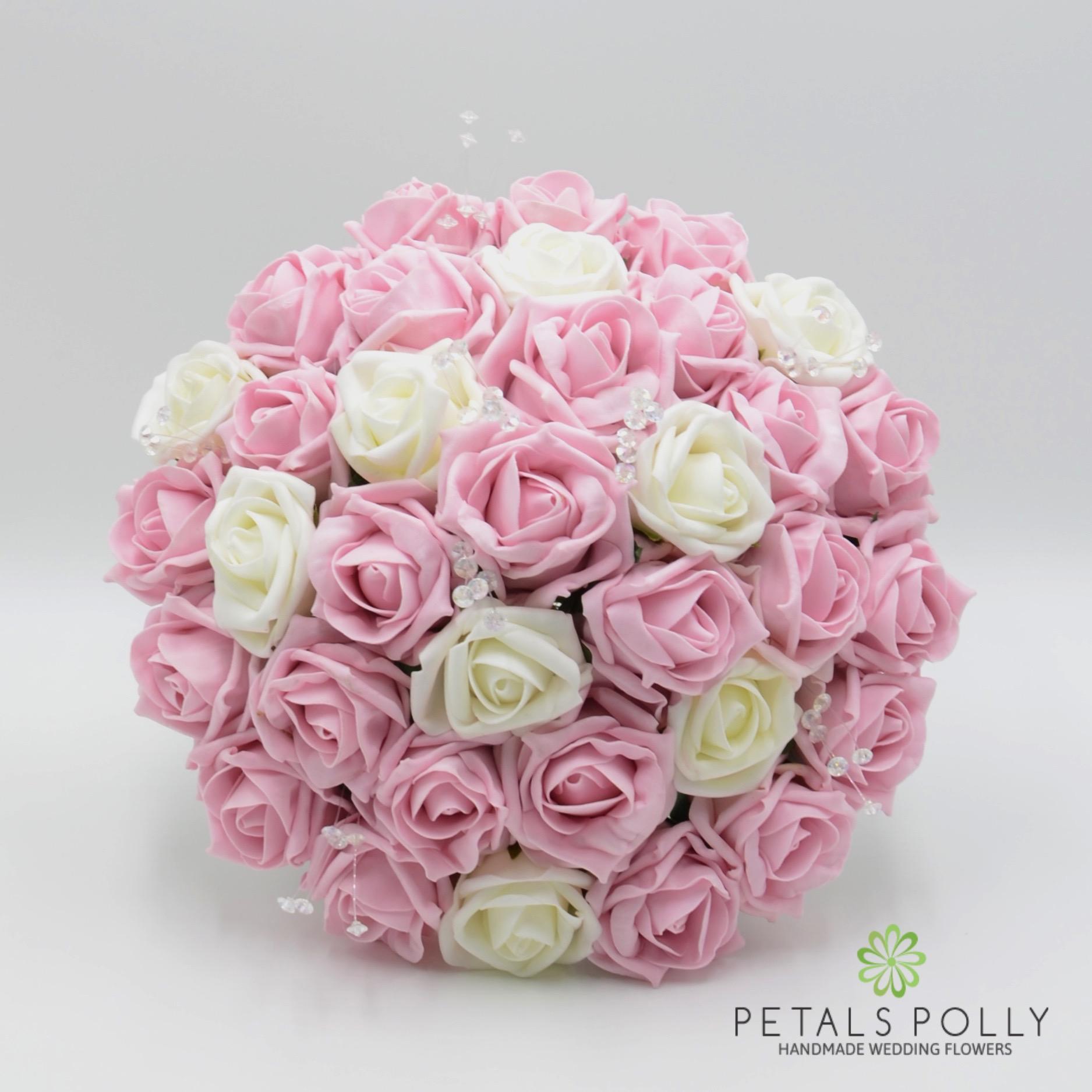 Baby Pink Ivory Rose Brides Posy