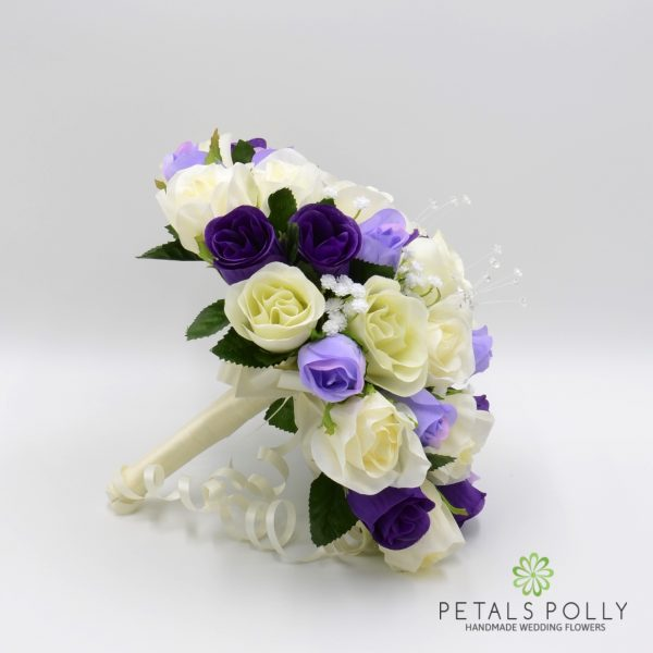 Purple, Lilac & Ivory Rose Brides Posy