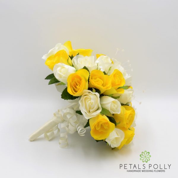 Yellow & Ivory Rose Brides Posy