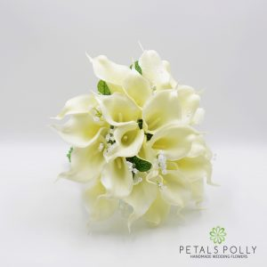 ARTIFICIAL IVORY CREAM CALLA LILY BRIDES POSY