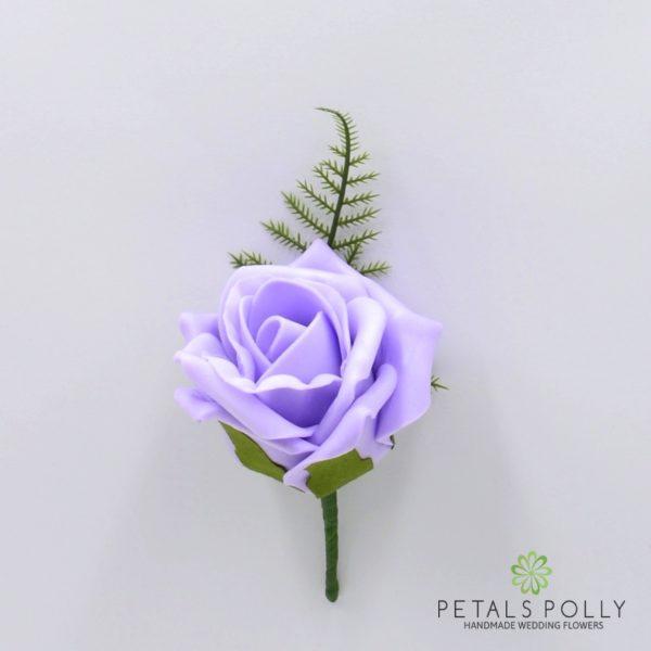 Aqua Blue / Turquoise Single Foam Rose Buttonhole