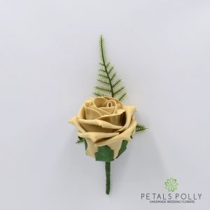 Cappuccino foam rose buttonhole