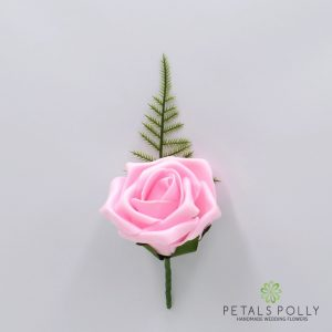 Single foam rose buttonhole