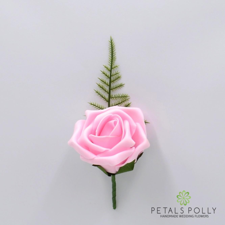 Baby pink single foam rose buttonhole aqua blue single foam rose buttonhole mightylinksfo