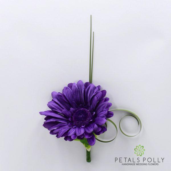 Lilac Gerbera Buttonhole