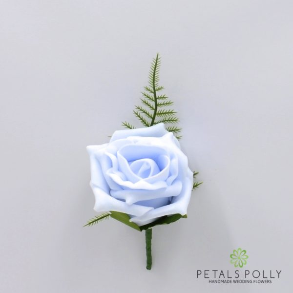 Aqua Blue / Turquoise Single Foam Rose Buttonhole