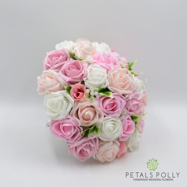 Baby Pink, Antique Pink, Blush Pink & White Rose Brides Posy