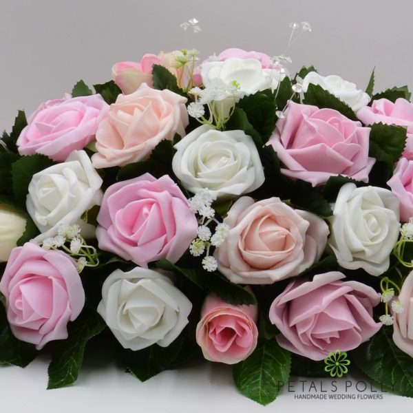 Baby Pink, Antique Pink, Blush Pink & White Rose Top Table Decoration