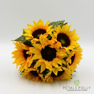 Artificial Sunflower Bridesmaids Posy bouquet