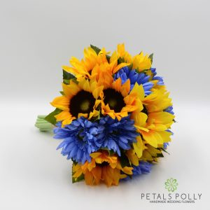 silk sunflower gerbera brides bouquet posy