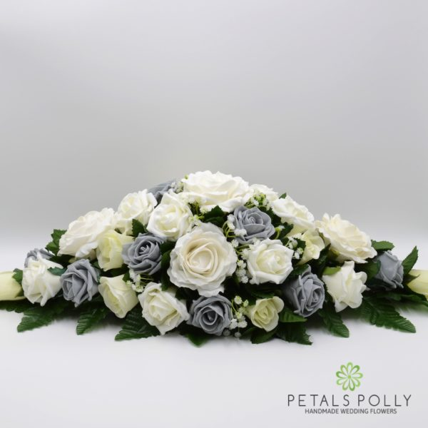 Grey & Ivory Rose with Ranunculus and Hydrangea Package