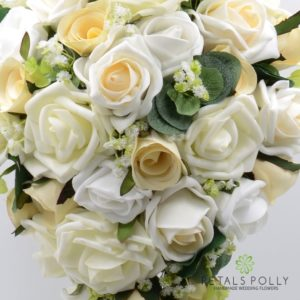 Champagne silk wedding bouquet
