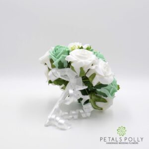 mint green white wedding flowers