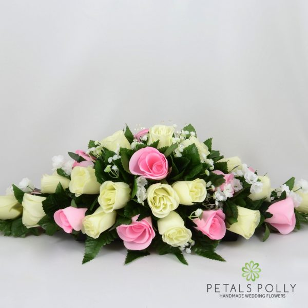 Baby Pink & Ivory Rose Top Table Decoration