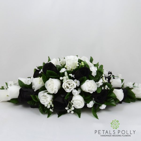 Navy Blue & Ivory Rose Top Table Decoration