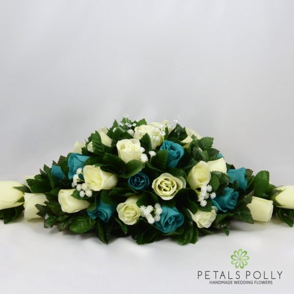 Sage Green & Ivory Rose Top Table Decoration