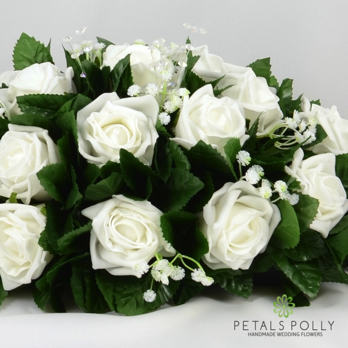 White foam rose top table decoration - Deco table rose ...