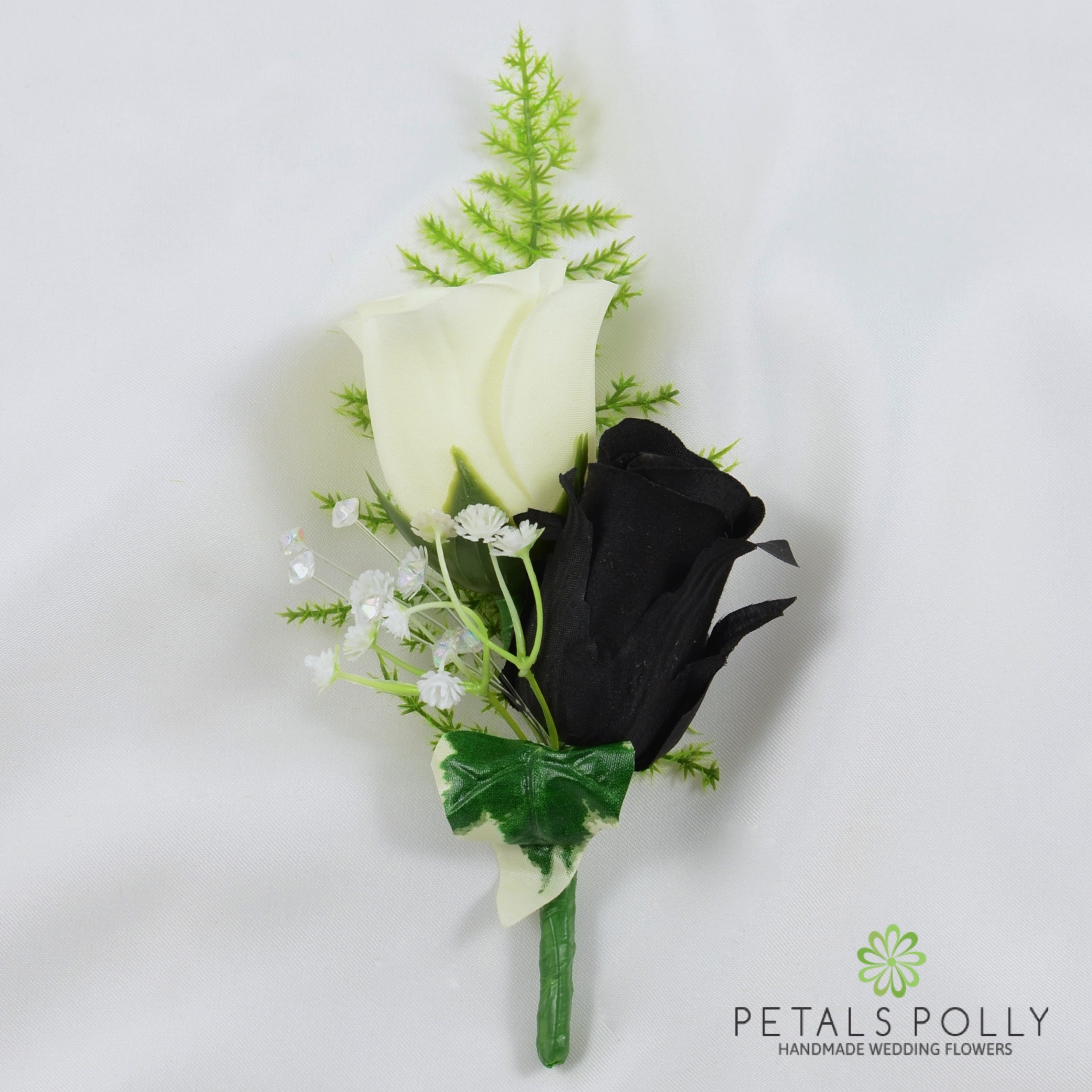 Artificial wedding flowers hand made by petals polly silk rose artificial wedding flowers hand made by petals polly silk rose buttonhole in baby blue with crystal mightylinksfo