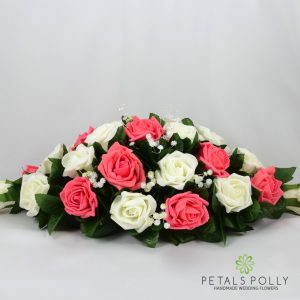 foam coral and ivory top table decoration