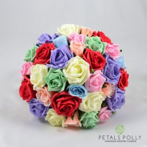 multi coloured artificial wedding flower package