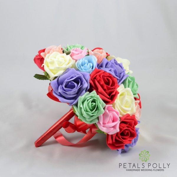 Multi-Coloured Foam Rose Package
