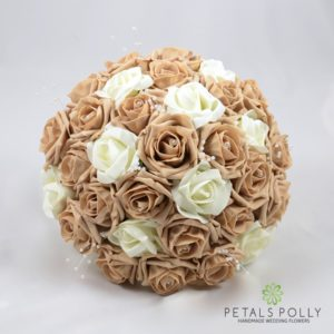 artificial cappuccino ivory wedding flower package