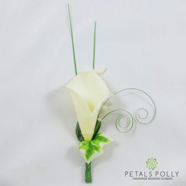 Ivory Calla Lily Buttonhole