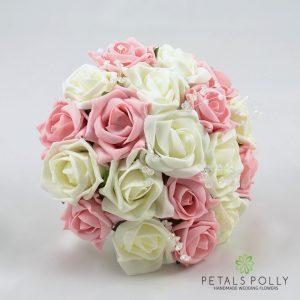 Pink & Ivory Rose Bridesmaids Posy