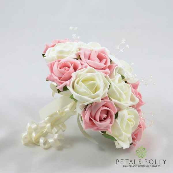 Antique Pink & Ivory Rose Bridesmaids Posy