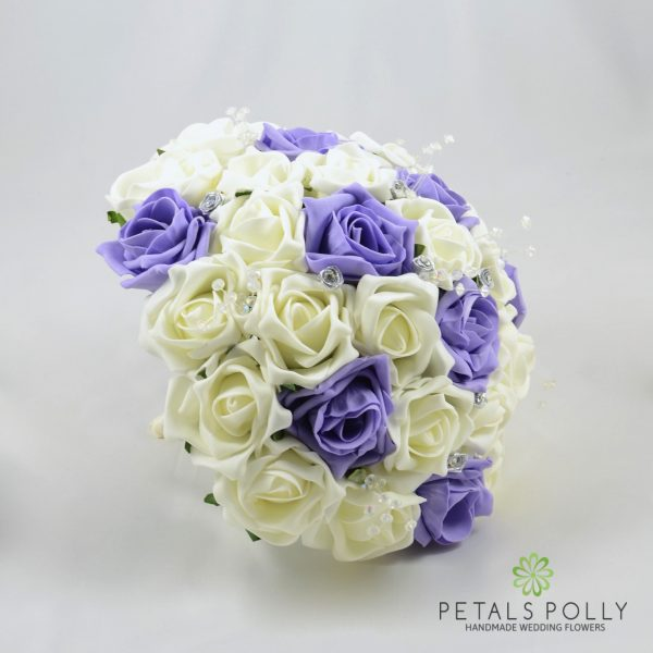 Lilac & Ivory Rose Brides Posy
