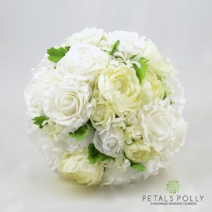 artificial ivory white wedding flower package
