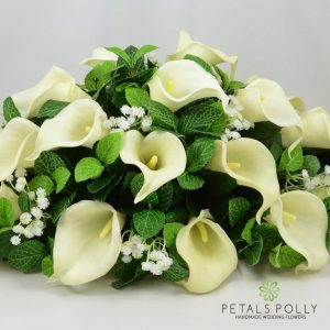 ivory real touch calla lily top table decoration