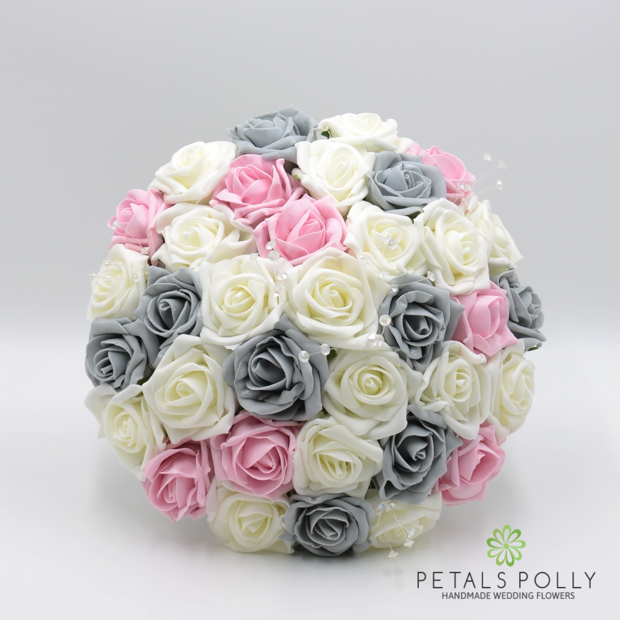 Silk Wedding Flowers Hand Made By Petals Polly Bridesmaids Posy