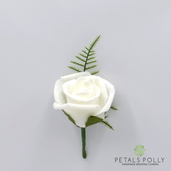 Black & White Foam Rose Package with Crystal Stems