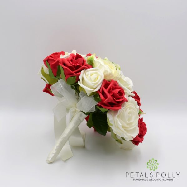 Orange & Ivory Rose Brides Posy